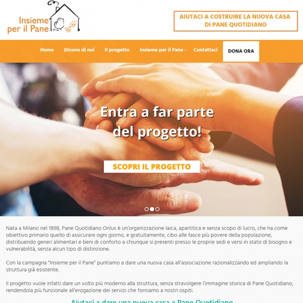 Sito web Capital Campaign Pane Quotidiano